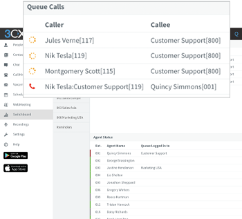 Contact Center Queue Calls